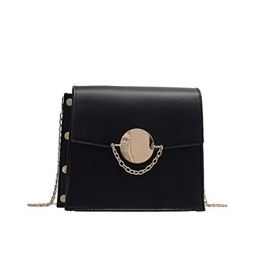 LILICAT Damen Wild Messenger Bag Mode Kleine quadratische Tasche mit Einer Schulter Bag Handtaschen Neue Welle Paket Kuriertasche Echt-Leder Business-Tasche für Notebook