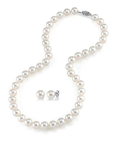 The Pearl Source   14k (585)  oro bianco  Rotonda Coltivate in acqua dolce  Perla