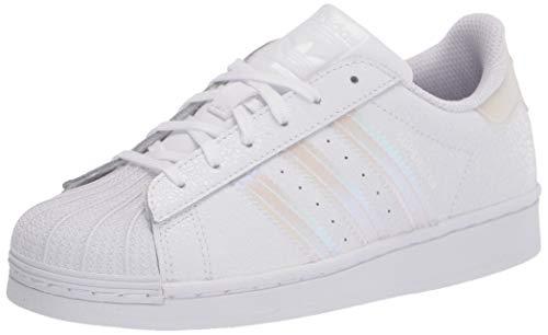 adidas Originals Kids' Superstar Sneaker, White/White/Black, 2.5