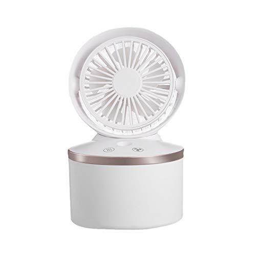 MagiDeal Humidificador de Niebla fría con Modo de Niebla Ajustable, Tanque de Agua de 280ml Apagado automático para Dormitorio, hogar, Oficina Ventilador de - Blanco