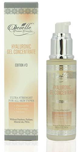 Hyaluronsäure Gel mit Hamamelis Gurke Melisse - 50 ml Hyaluron Serum Edition 3 Anti Aging Hyaloron Booster Anti Falten Gesichtspflege Made in Germany