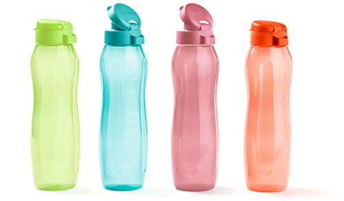 Tupperware Eco Gen Flip Top - Botella de agua (500 ml, 4 unidades)
