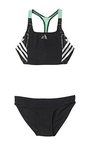 adidas Damen Bikini Tech Range, Schwarz/Silber, 38