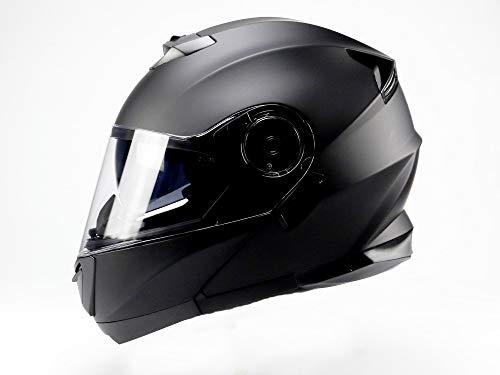 BNO Flip-2 Flup Up Helm Klapphelm Madular Helm (L, Matt Schwarz)