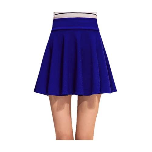 N\P Faldas para mujer, talla grande, tutú, falda corta, pantalones adecuados para, Royal Blue No Pant, XXXXL