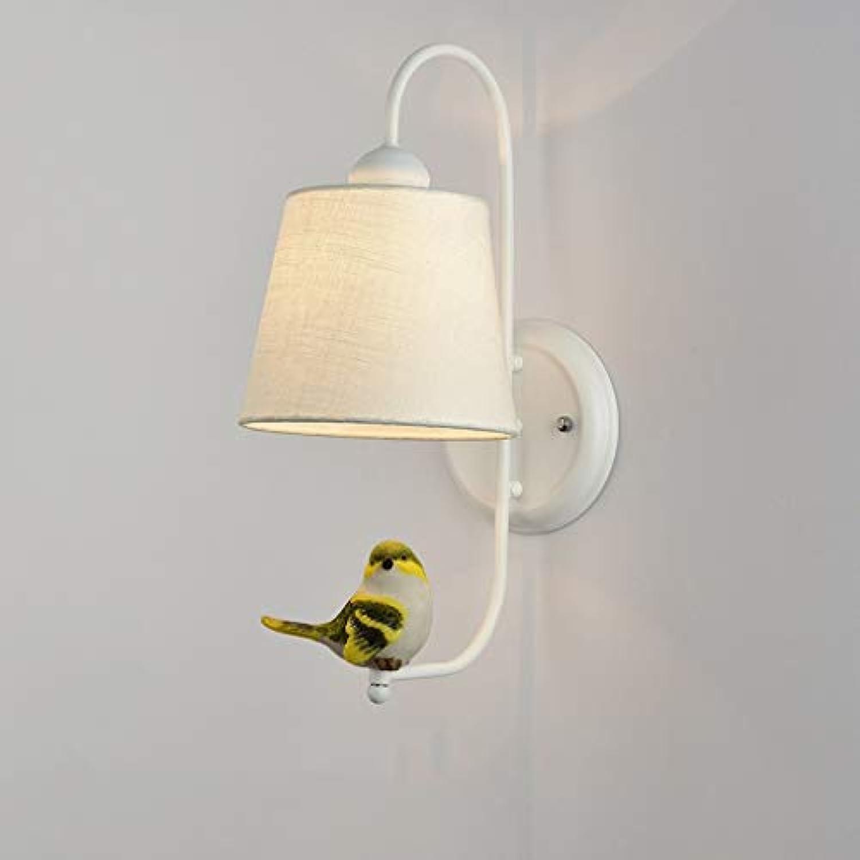 Xiao Fan    Nordeuropa Modernes, minimalistisches Schlafzimmer mit Nachttischlampe Wandleuchten Creative Birdie Wohnzimmer Gang Treppenlichter E27 Nachttischlampe (Farbe    4)