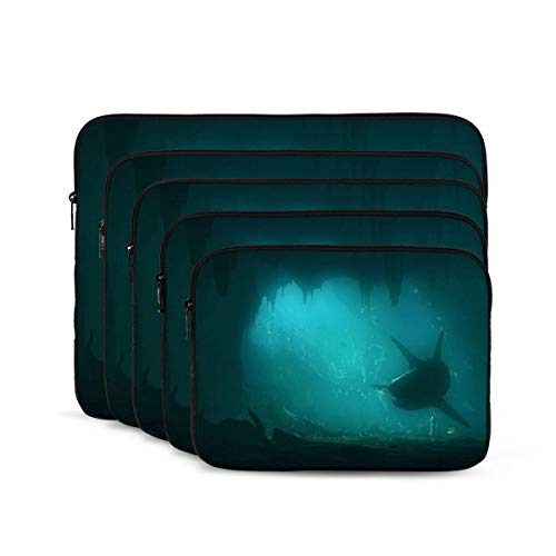 Oceans Underwater Sharks Laptop Sleeve 12 inch, Shock Resistant Notebook Briefcase, Computer Protective Bag, Tablet Carrying Case for MacBook Pro/MacBook Air/Asus/Dell/Lenovo/Hp/Samsung/Sony
