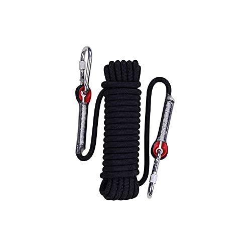 Cuerda de escalada estática de 12 mm de diámetro, cuerda de escalada de árbol, cuerda de paracaídas, tendedero, cuerda para mascotas de 30 m