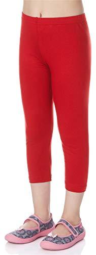 Merry Style Leggings 3/4 Bambina e Ragazza MS10-131 (Rosso, 116 cm)
