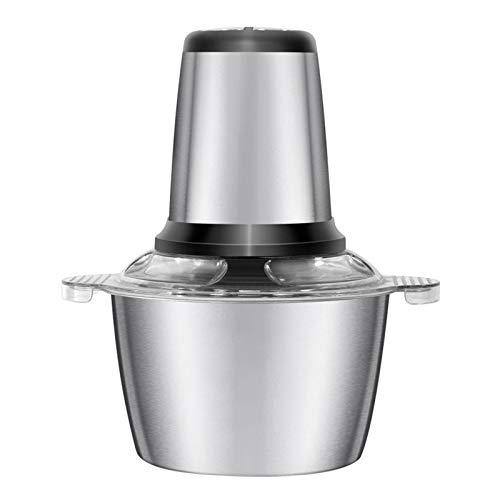 OUTHOME Robot de Cocina con 3 litros de Acero Inoxidable Cuenco y 4 Debido a Sus Hojas de Las Frutas, Verduras, Carne Trituradora, 2 Velocidad, 300W