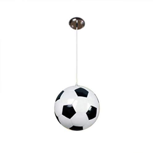 NANA318 Moderne creatieve voetbal plafondlamp stijl cartoon stijl plafondlamp glas voetbal art kroonluchter E27 houder voor kinderen jongens slaapkamer B_D18