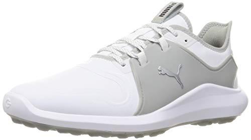 PUMA Ignite FASTEN8 Pro Herren Golfschuhe White-Silver-High Rise UK 9_Adults_FR 43