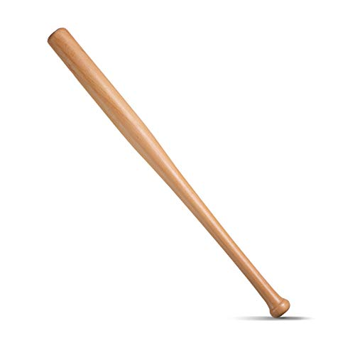 BigTree Wooden Baseball Bat 28 inch Baseball Bar Sticks Home Security Protection Self Defense Youth Adult Outdoor Training and Practise Long Lightweight Sturdy Undeformable