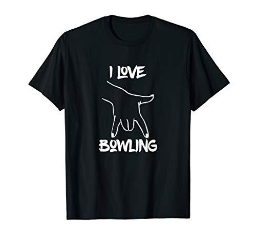 I Love Bowling, Handhaltung wie beim Bowlen, Bowling Griff T-Shirt