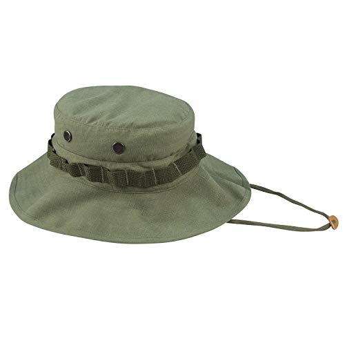 Rothco Vintage Vietnam Style Boonie Hat, Olive Drab, 7.75
