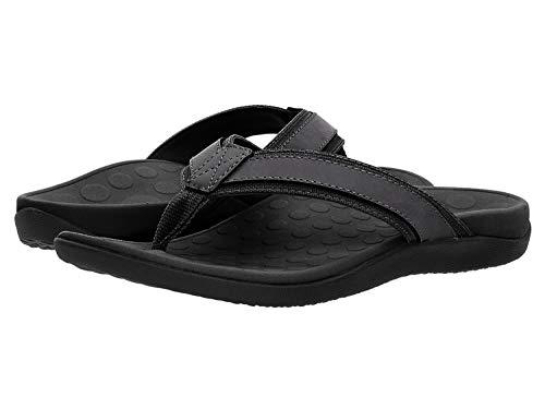 Vionic Men's Tide Toe-Post Sandal - Flip Flop with Concealed Orthotic Arch Support Black 12 Medium US