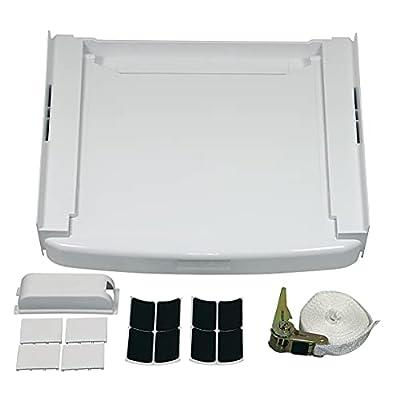 VIOKS Connection Frame Connection Kit Intermediate Frame Washing Machine Dryer Like Bauknecht Wpro 48400008436 SKS101 60 x 60 cm
