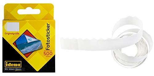 Idena 310099 - Fotosticker dauerhaft klebend in Box, 12 x 16 mm, 500 Stück