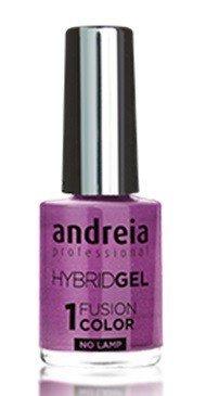 Andreia professionele hybride gel nagellak - 2 stappen en geen lamp nodig Langdurige en eenvoudige verwijdering - Fusion Color H52 Paars |Tinten metallic grijs