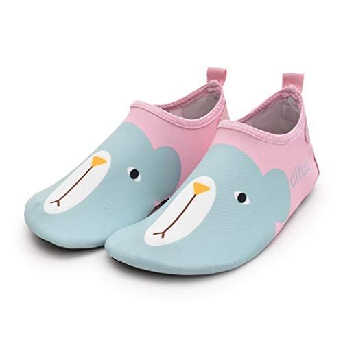 DIAOD Wasserschuhe barfuß Quick-trockene Kinder Outdoor Aqua Socken Schuh Hausschuhe Baby Jungen Mädchen Tauchen Wating Beach Badeschuhe Kinder (Color : B, Size : 24-25)