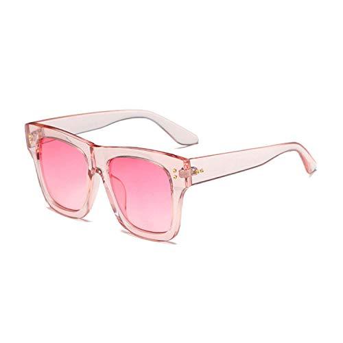 Occhiali da Sole,Occhiali da Sole Sportivi,Retro Women Square Sunglasses Designer Fashion Nail Decoration Ladies Pink Gradient Shades