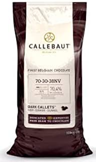 Barry Callebaut Dark Chocolate Couverture Callets (Case - Two 22 lb Bags) - 70-30-38NV-595