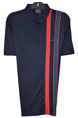 Gabicci Poloshirt mit einseitigem Doppelstreifen, einfarbig Gr. L, navy