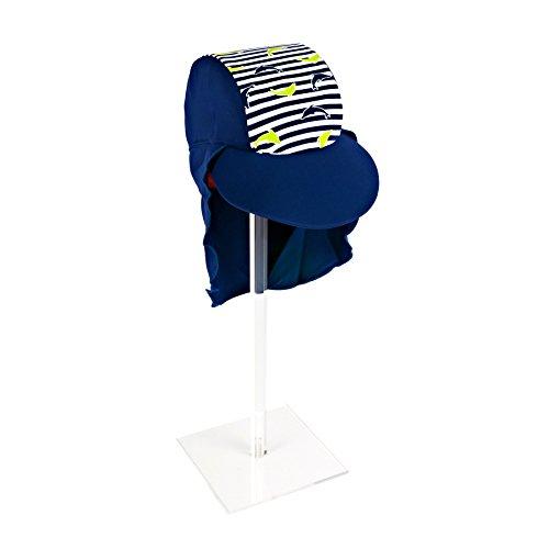 Surfit Chapeau à Rayures pour garçon UV50+ Motif Dauphins Blanc Bleu Marine/Blanc 0-12 Mois