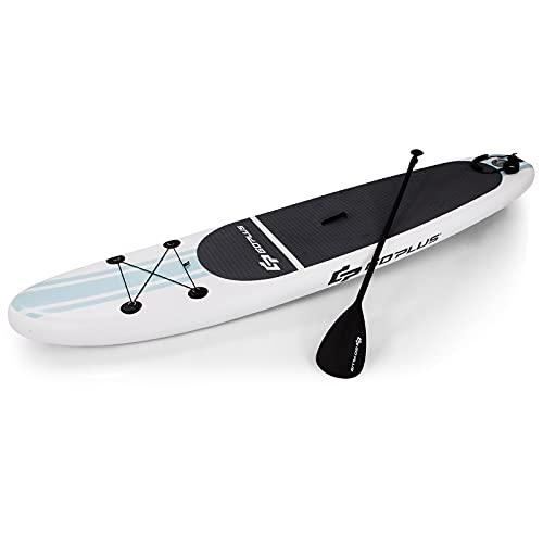 COSTWAY Tabla Hinchable Paddle Surf Sup 305 x 76 x15cm Board Stand Up con Remo de Ajustable 160-210cm Bomba Bolsa de Transporte