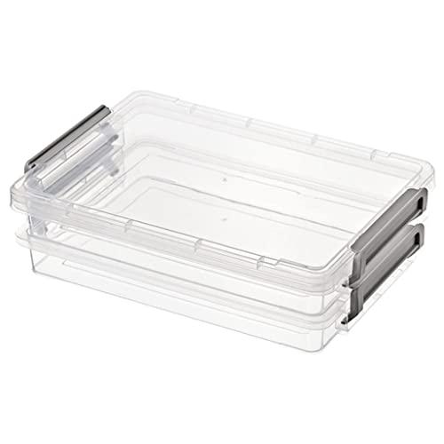 H HILABEE Caja de Almacenamiento de Revista de Plástico Apilable A4 Caja de Archivos Documentos Organizador de Papel