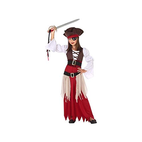 Atosa-56962 Disfraz Pirata, Color marrón, 10 a 12 años (56962)
