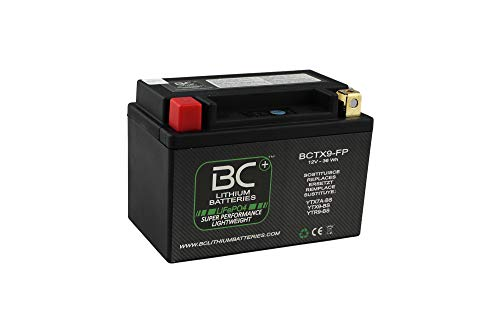 BC Lithium Batteries BCTX9-FP Batteria Moto al Litio, Nero, 1