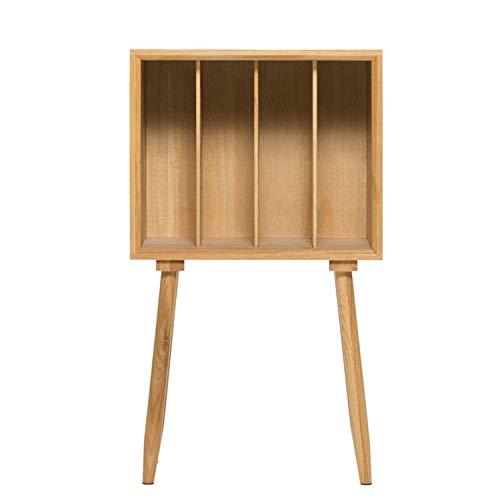 XCXDX Table De Chevet en Bois Massif, Magazine Bibliothèque Simple, Armoire Latérale De Canapé, 45 × 27 × 78 Cm