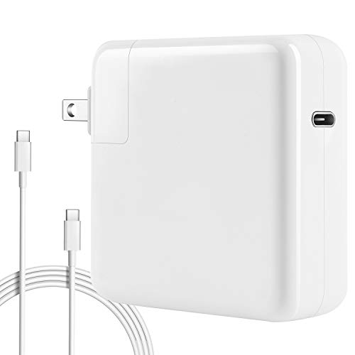 87w USB-C Power Adapter Compatible with Macbook Pro Charger 87w USB C 2018 New Macbook Air Charger 2017 Mac Thunderbolt Charger 13 15 2016 Type C Charger and More USB C Devices