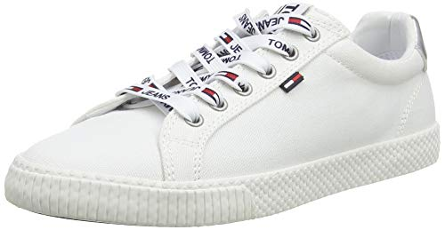 Hilfiger Denim Damen Tommy Jeans Casual Sneaker, Weiß (White 100), 39 EU