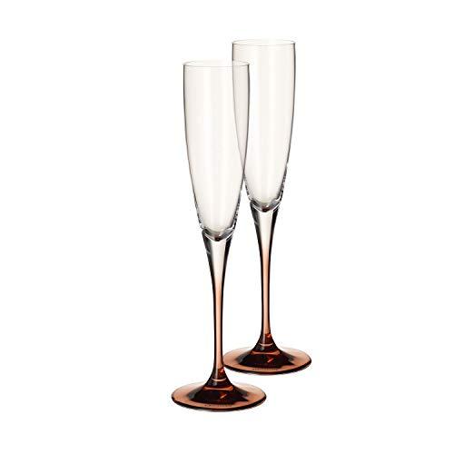 Villeroy & Boch Manufacture Glass Copa de champán, Set de 2, 150 ml, Vidrio de cristal, Transparente