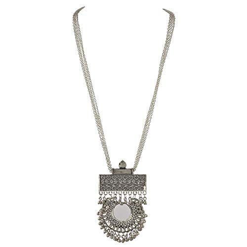 Indian Silver Oxidized Ethnic Bollywood Fashion Handmade Tribal Afghani Gypsy Statement Sweater Chain Necklace Jewellery