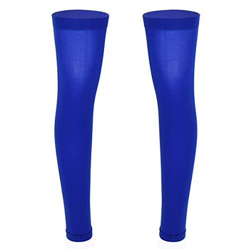 iiniim Herren Damen Kompressionsstrümpfe ohne Fuß Elastische Sommer Sport Waden Kompressionsbandage Kompressionsstrümpfe Socken Royal Blau Einheitsgröße