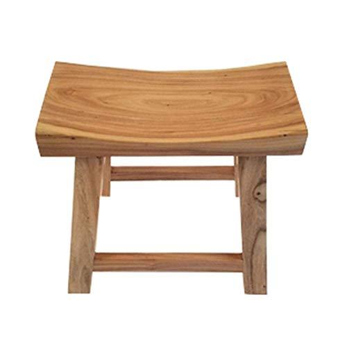 YLCJ Old Elm Home Massief hout barkrukken Bench Woonkamer Bank Kruk Kruk (kleur: hout kleur Afmetingen: 40 * 20 * 30 cm) 40 * 20 * 30cm Wood Color