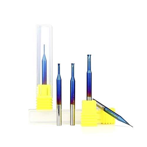 Shenyitool Hardwaretools 1pc 0.7-3.9mm P0.25-P0.8 Einzelgewindefräser Nano Blau beschichtetes Hartmetall-Schaftfräser Gewindefräser 4mm Schaft CNC Fräser Werkzeug (Size : P0.25x0.7xD4x3.1x50L)