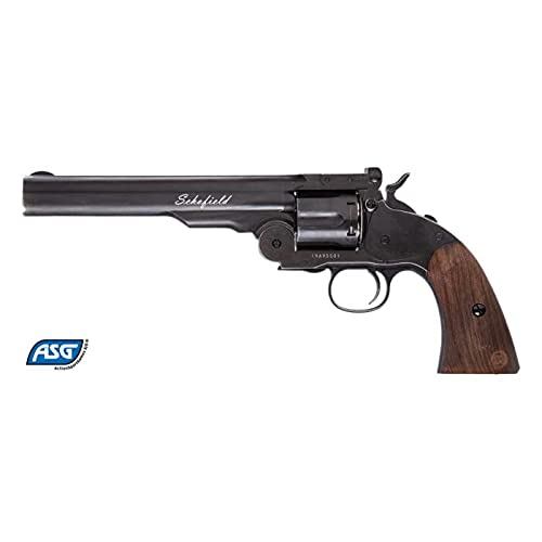 Asg Revolver Schofield 6' Negro Full Metal - 4,5 mm Co2 Balines