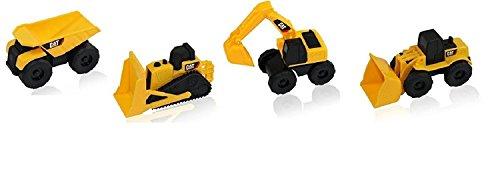 Cat Caterpillar Construction Toy Truck Play-Set Dump Trucks, Bulldozer & More. Sand and Dirt Toys. (Play Set of 4)