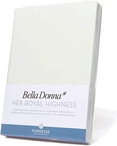 Bella Donna Jersey Spannbettlaken 1B Qualität 90/200 - 100/220cm - Wollweiss (0114)