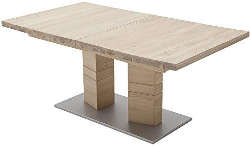 Robas Lund, Tisch, Esszimmertisch, Cuneo A, Eiche/Massivholz/bianco, 180 x 100 x 77 cm, CUN14ABE