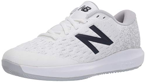 New Balance womens Fuelcell 996 V4 Hard Court Tennis Shoe, White/Grey, 9.5 Wide US