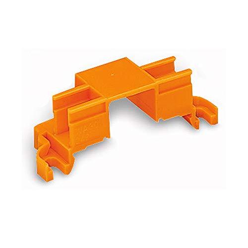 10x Wago 243-112 Befestigungsadapter - MICRO mini Wago - 4-fach - Hutschiene - Schraubbefestigung - orange