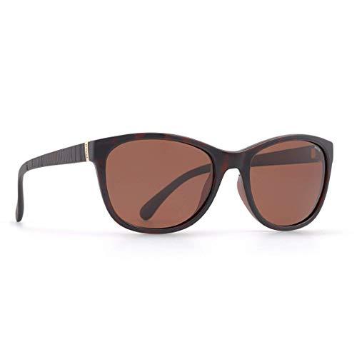 INVU Damen Polarisierte Sonnenbrille Slim Fit B2401 Demi (B2401H), Linse Kupfer