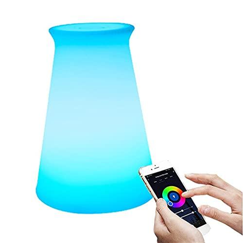 JDKC- Lámpara de Mesita de Noche Inteligente para Dormitorios, Funciona con Alexa Google Home, Control de la Aplicación WiFi, Alimentado por USB, Programación y Temporizador (Color : Style19)