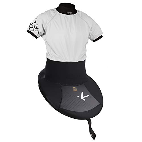 Hiko K1 Jackpot Zephyr ss Slalom Kombi Spritzdecke Paddelshirt, Farbe:Weiß, Größe:L