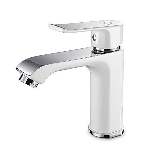 CECIPA Grifos de lavabo con 2 Salidas de Agua, Grifo de Baño de Latón con...